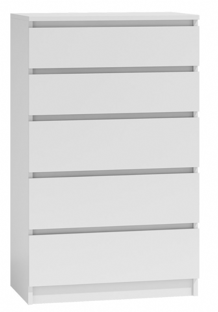 Moderna White - 5 Drawer